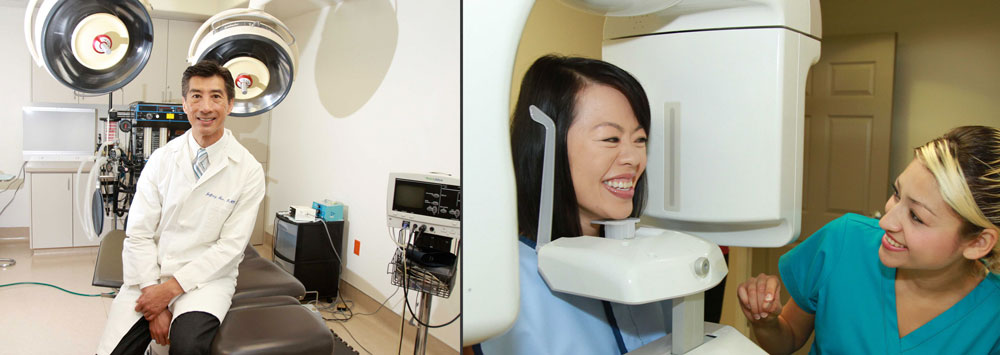 Oral surgeon with state-of-the-art technology